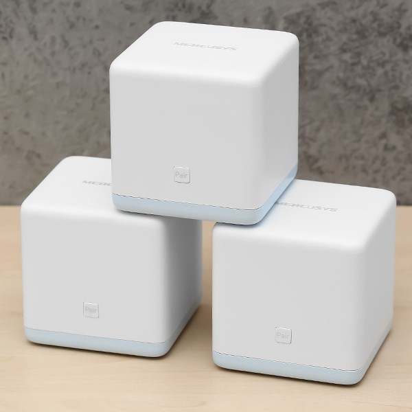 Router Wifi Mesh 3 Pack AC1200 Mercusys Halo S12 Trắng