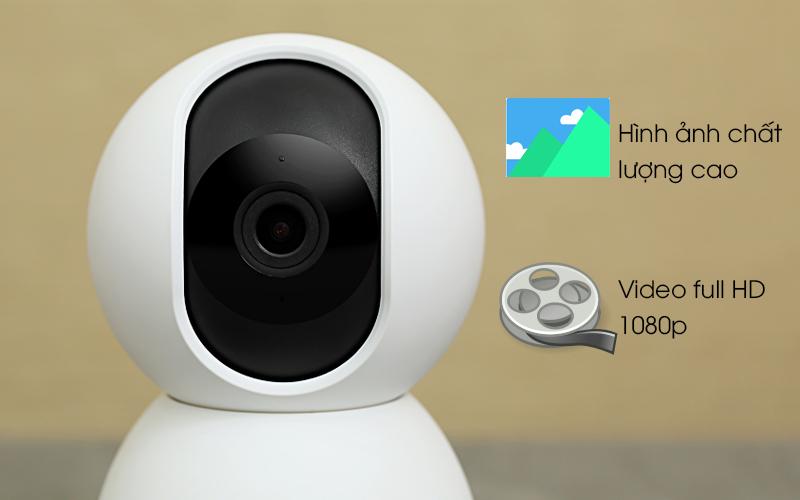 Camera IP Mi Home 360 Độ 1080P Xiaomi QDJ4041GL trắng cho hình ảnh chất lượng cao