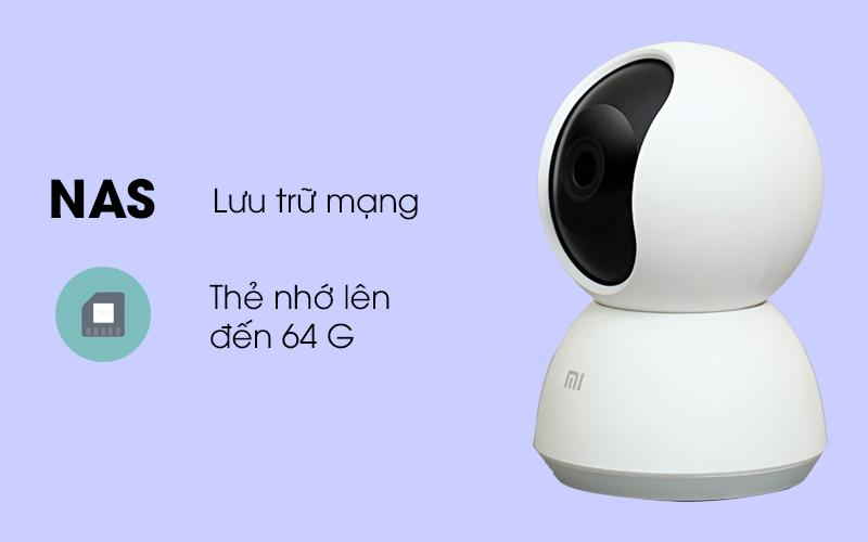 Camera IP Mi Home 360 Độ 1080P Xiaomi QDJ4041GL trắng dễ dàng lưu trữ