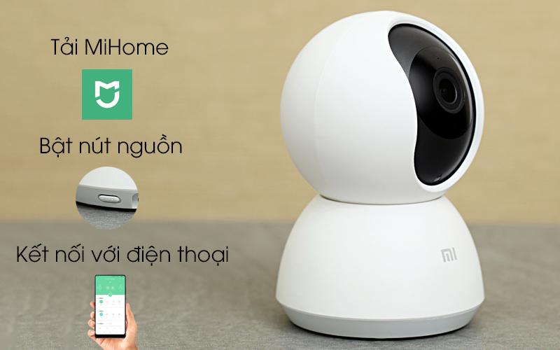 Camera IP Mi Home 360 Độ 1080P Xiaomi QDJ4041GL trắng kết nối dễ dàng