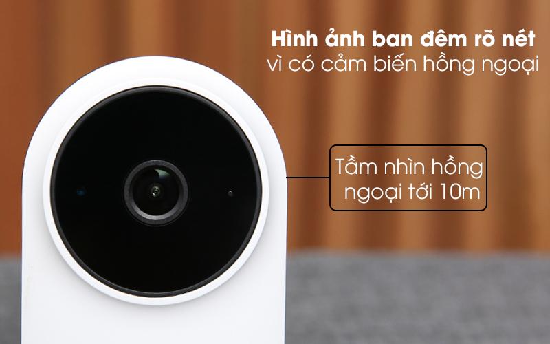 Có cảm biến hồng ngoại - Camera IP 1080P Xiaomi Mi Home Basic ZRM4037US Trắng