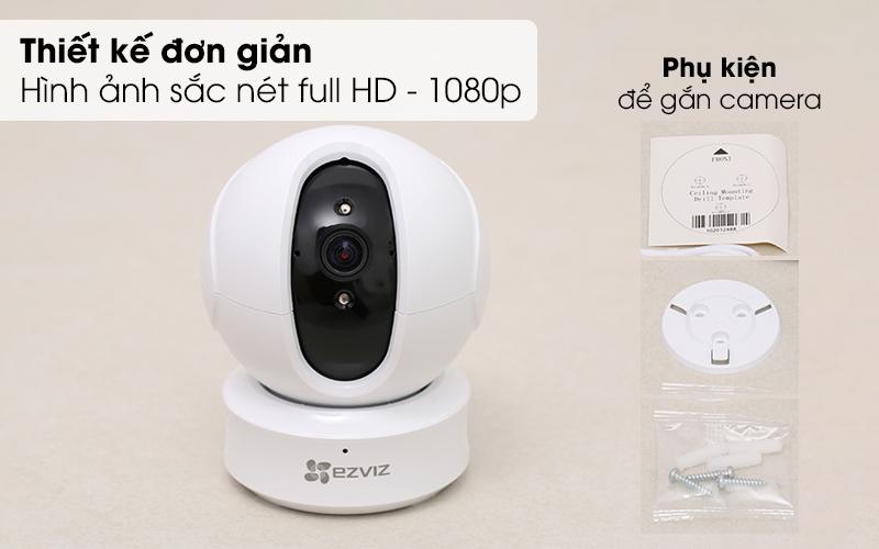 Thiết kế đơn giản Hình ảnh sắc nét full HD - 1080p - Camera IP 1080P EZVIZ CS-CV246 Trắng