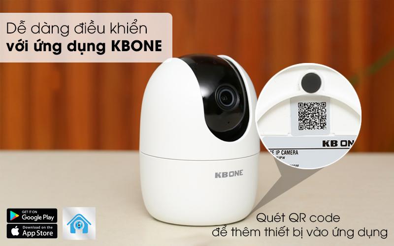 Dễ dàng điều khiển với ứng dụng KBONE - Camera IP 1080P Kbvision KN-TGH21PWN Trắng