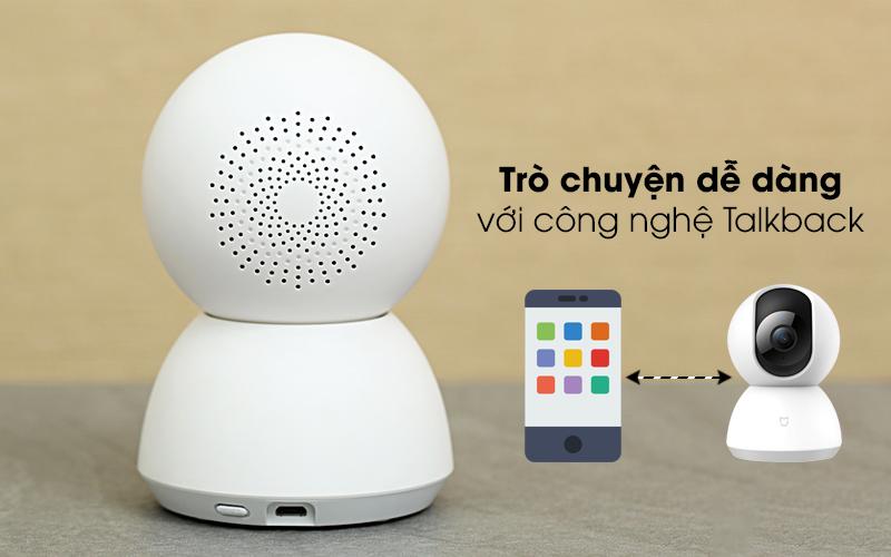 Dễ dàng trò chuyện cùng người thân - Camera IP Mi Home 360 Độ 1080P Xiaomi QDJ4058GL