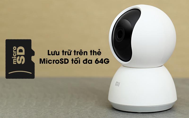 Được hỗ khe cắm thẻ nhớ - Camera IP Mi Home 360 Độ 1080P Xiaomi QDJ4058GL
