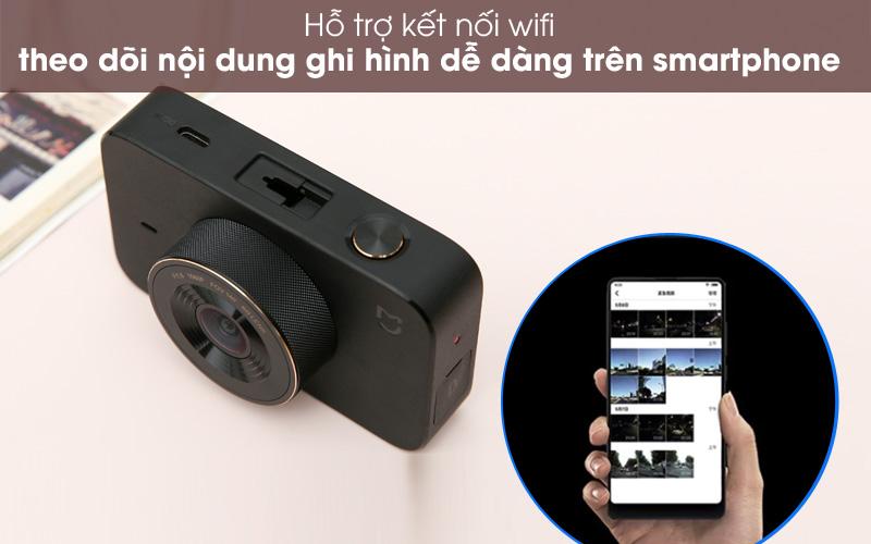 Kết nối wifi - Camera Hành Trình 1080P Xiaomi Mi Dash Cam 1S Đen