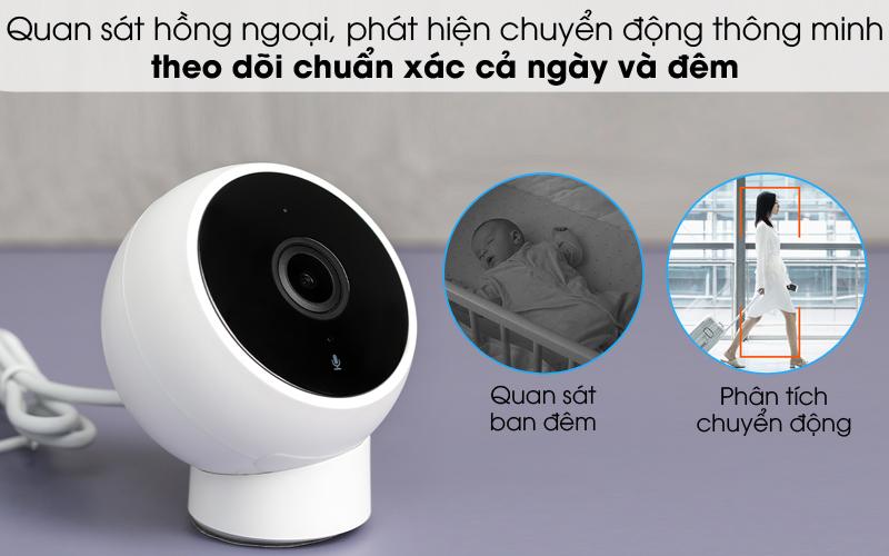 Quan sát tốt cả ngày và đêm - Camera IP 1080P Xiaomi Mi Home Magnetic Mount QDJ4065GL Trắng