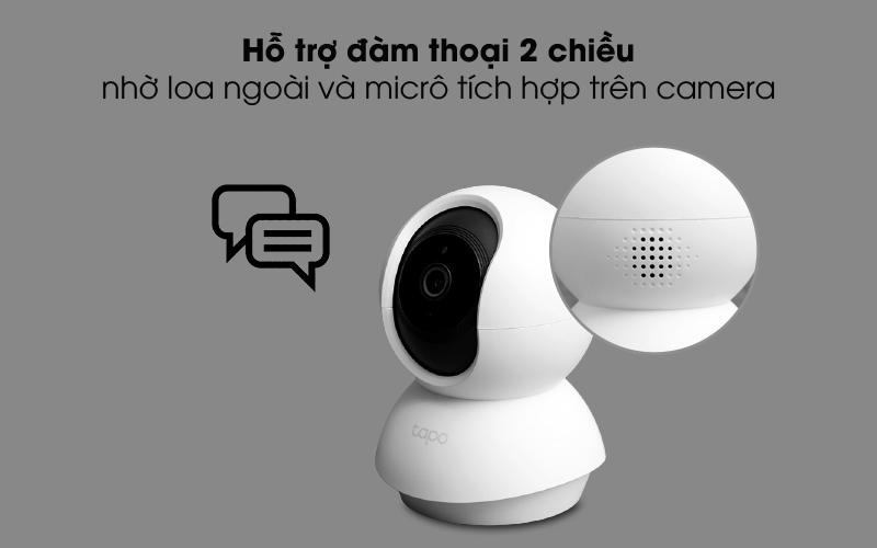 Đàm thoại 2 chiều - Camera IP 360 độ 1080P TP-Link Tapo C200 Trắng