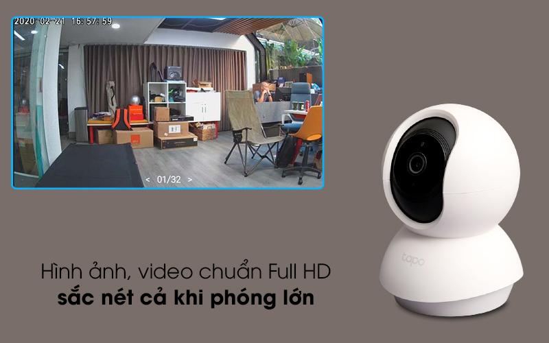 Hình ảnh chất lượng FHD - Camera IP 360 độ 1080P TP-Link Tapo C200 Trắng