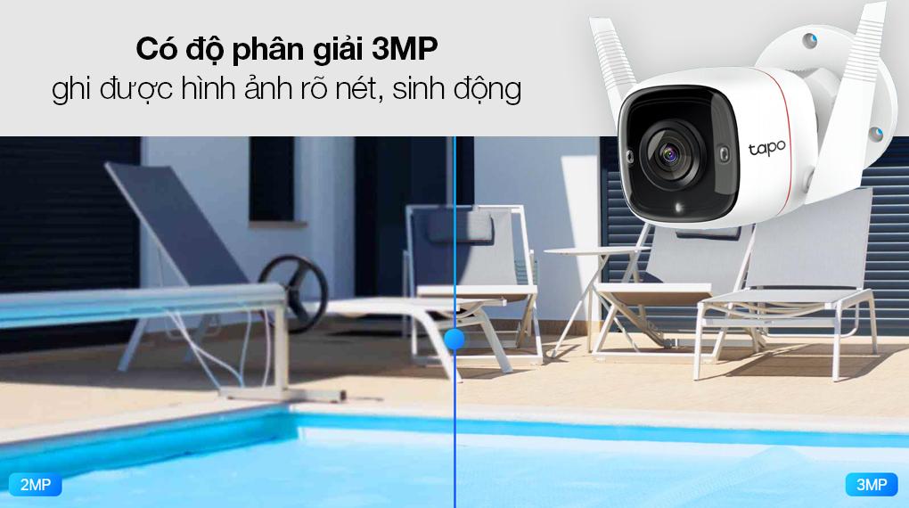 Camera Giám Sát Ngoài Trời 3MP TP-link Tapo C310 - Thu phát video cực nét với độ phân giải 3MP