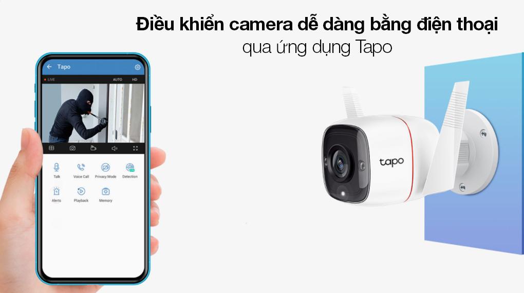 Camera Giám Sát Ngoài Trời 3MP TP-link Tapo C310 - Điều khiển camera IP tiện lợi bằng điện thoại qua ứng dụng Tapo