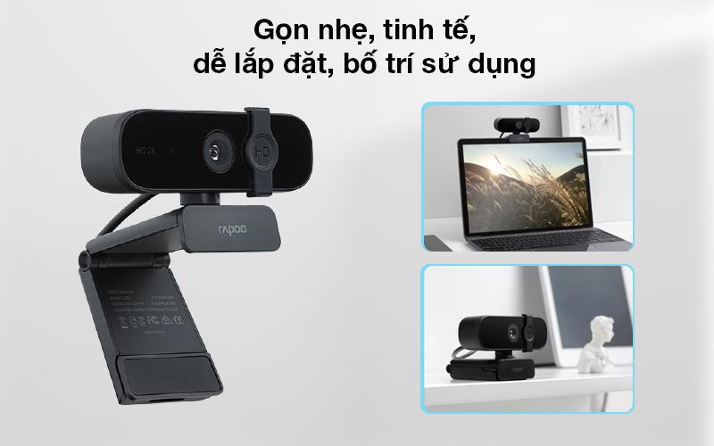 Nhỏ gọn, dễ bố trí - Webcam 1440p Rapoo C280