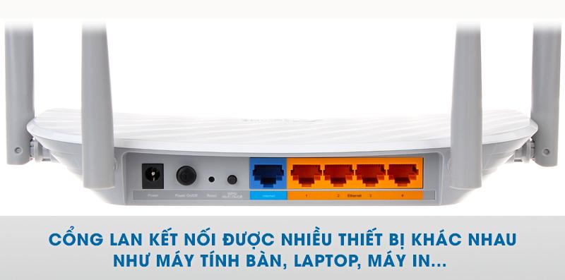 1 cổng WAN và 4 cổng LAN tốc độ 10/100Mbps - Router TP-LINK Archer C50 AC1200 Băng tần kép