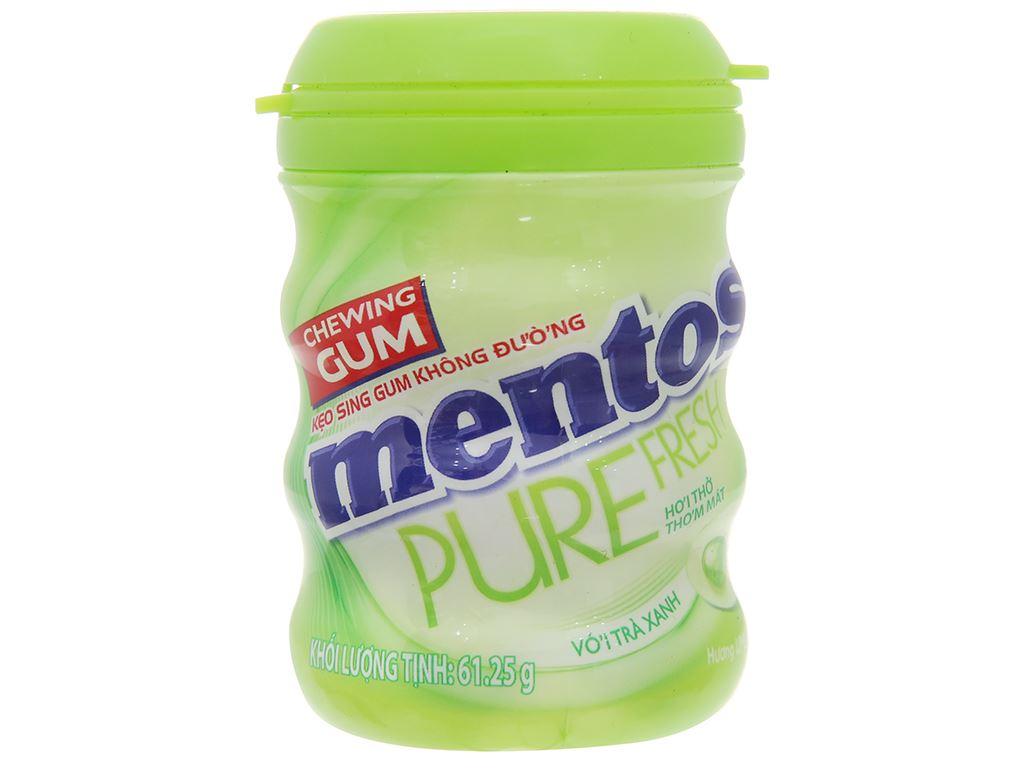 Sing-gum không đường Mentos Pure Fresh hương Lime Mint hũ 61.25g 1