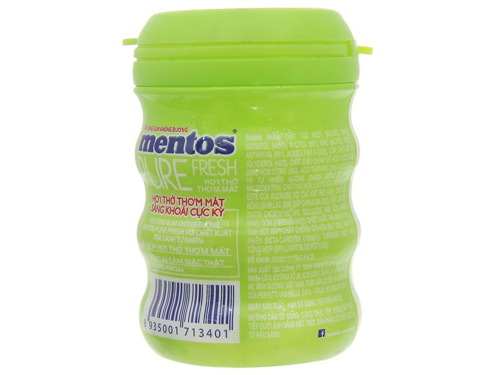 Sing-gum không đường Mentos Pure Fresh hương Lime Mint hũ 61.25g 2