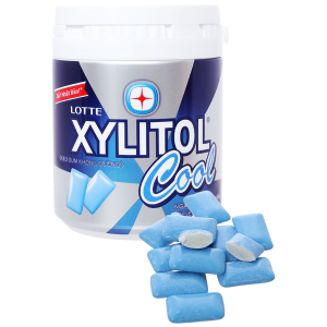 Kẹo gum không đường Lotte Xylitol Cool hũ 137.8g
