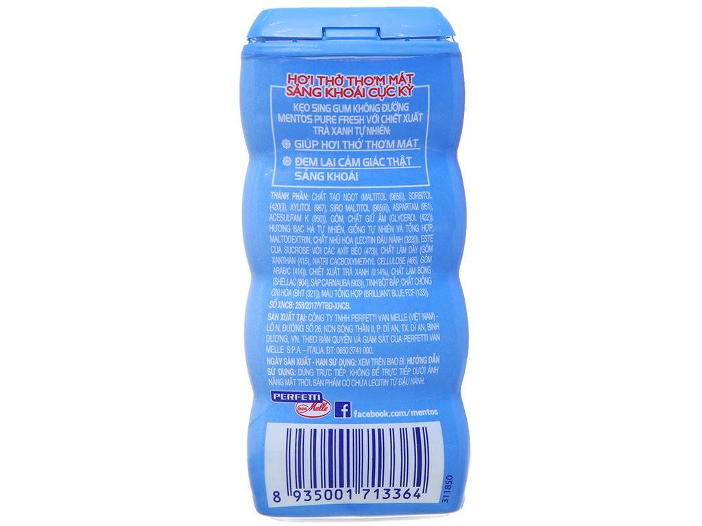Sing-gum không đường Mentos Pure Fresh hương Fresh Mint hũ 28g 3