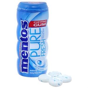Kẹo cao su Mentos Pure Fresh bạc hà hơi thở thơm mát 28g