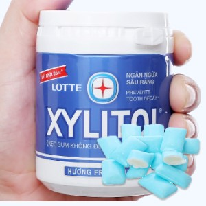 Kẹo gum không đường Lotte Xylitol hương Fresh Mint hũ 137.8g