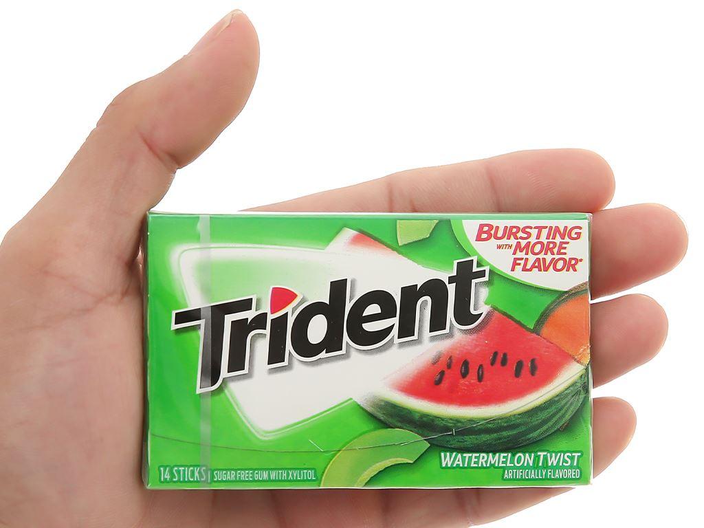 Kẹo gum không đường Trident hương dưa hấu hộp 26.6g 4