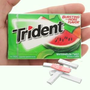 Kẹo gum không đường Trident hương dưa hấu hộp 26.6g