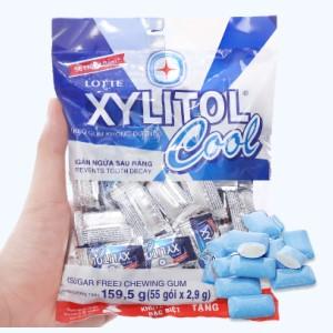 Kẹo gum không đường Lotte Xylitol Cool gói 159.5g