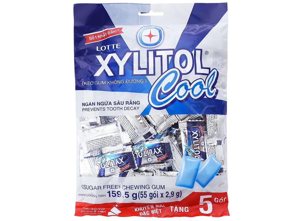 Kẹo gum không đường Lotte Xylitol Cool gói 159.5g 2