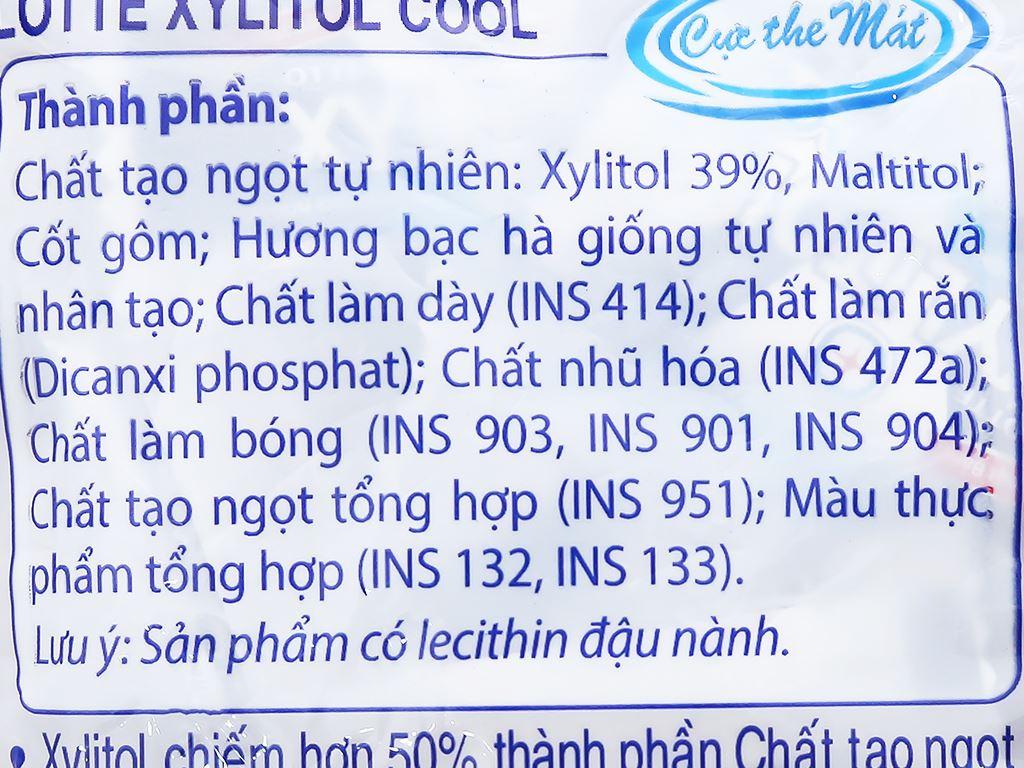 Kẹo gum không đường Lotte Xylitol Cool gói 159.5g 4