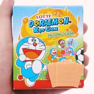 Kẹo sing-gum Lotte Doraemon hương cam hộp 9.6g