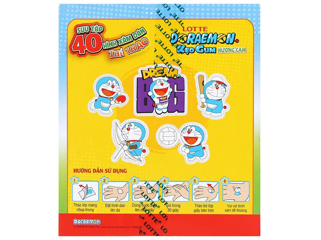 Kẹo sing-gum Lotte Doraemon hương cam hộp 9.6g 3