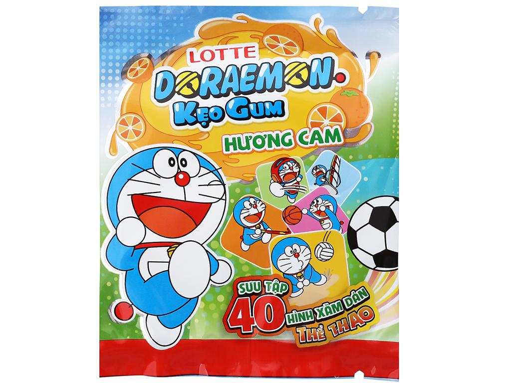 Kẹo sing-gum Lotte Doraemon hương cam hộp 9.6g 4