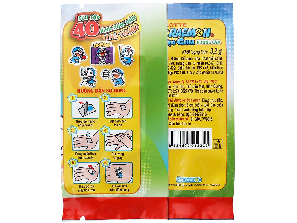 Kẹo sing-gum Lotte Doraemon hương cam hộp 9.6g 5