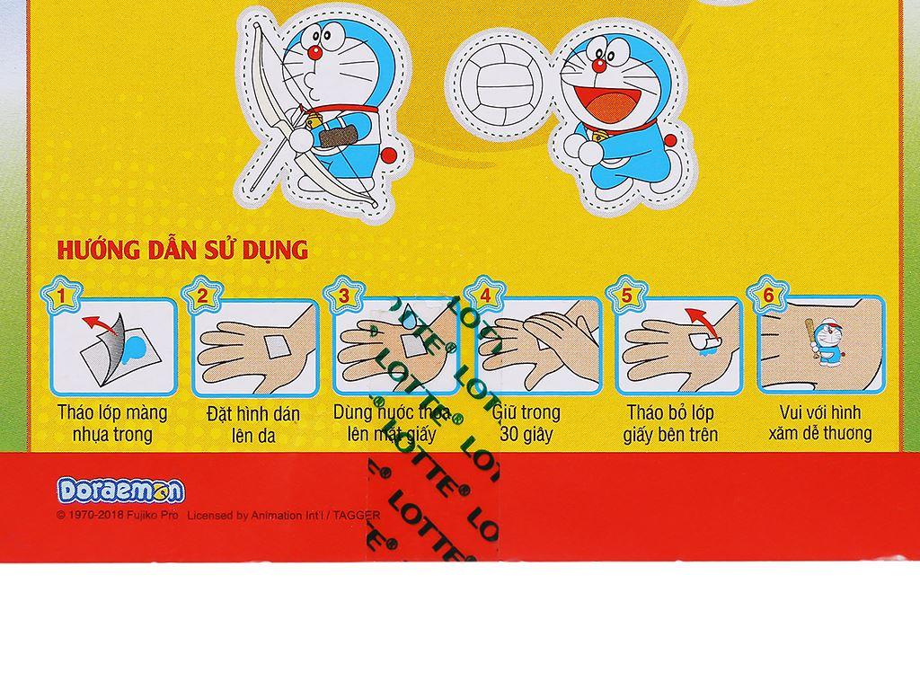 Kẹo sing-gum Lotte Doraemon hương cam hộp 9.6g 8