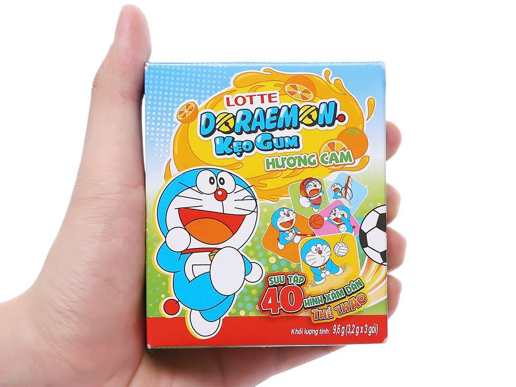 Kẹo sing-gum Lotte Doraemon hương cam hộp 9.6g 9