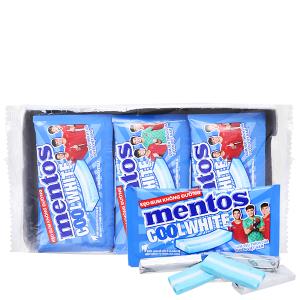 Kẹo gum không đường Mentos Coolwhite hương bạc hà hộp 127.5g