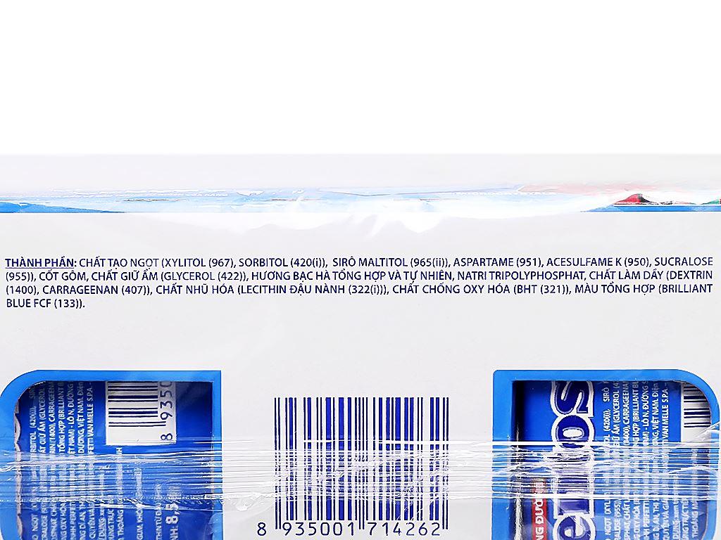 Kẹo gum không đường Mentos Coolwhite hương bạc hà hộp 127.5g 6