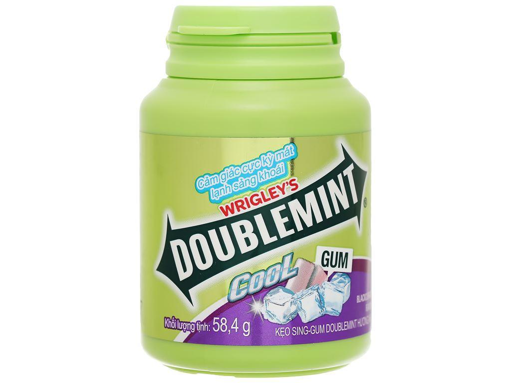 Kẹo sing-gum DoubleMint Peppermint hương nho hũ 58.4g 1