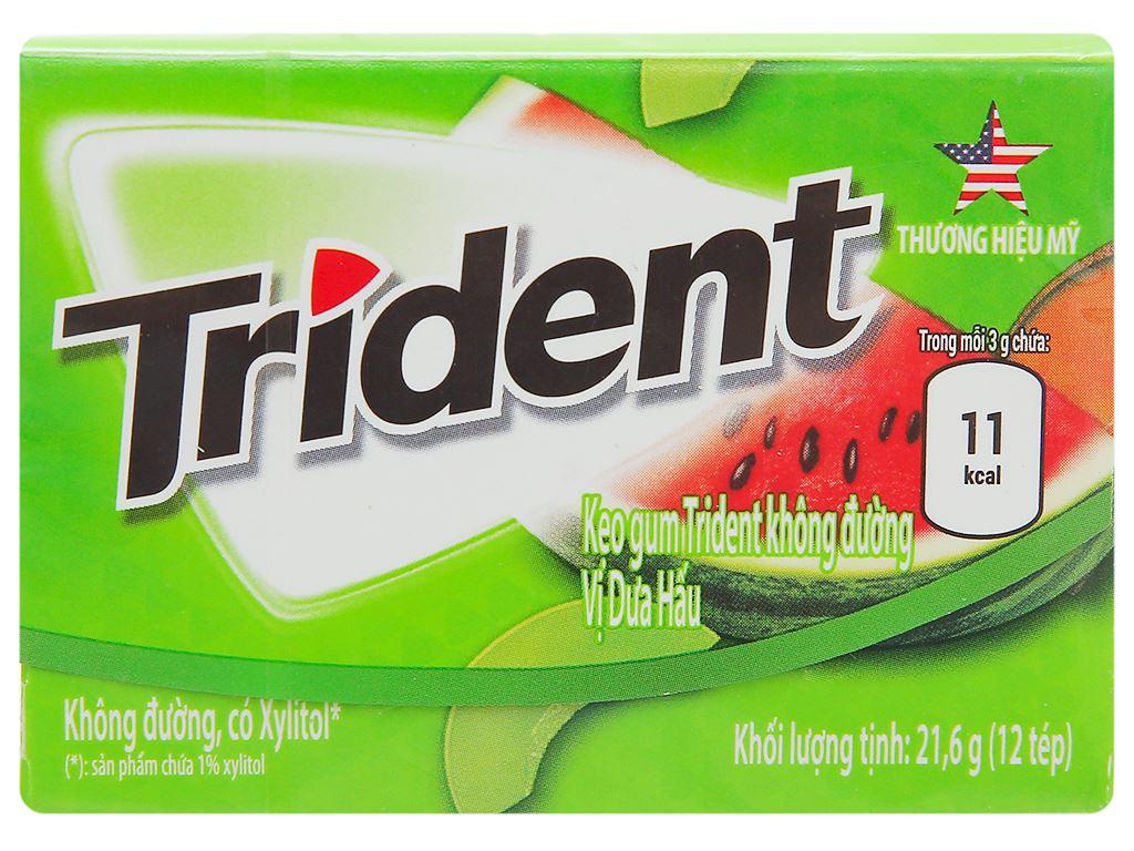 Kẹo gum Trident Ice hương dưa hấu hộp 21.6g 1