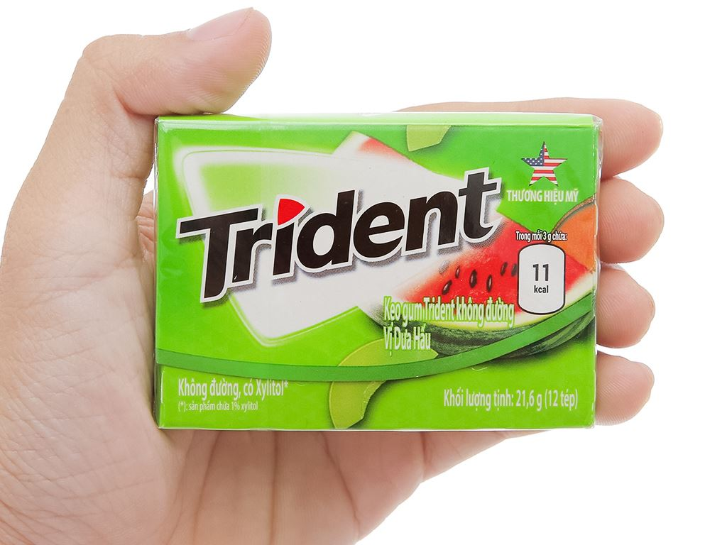 Kẹo gum Trident Ice hương dưa hấu hộp 21.6g 5