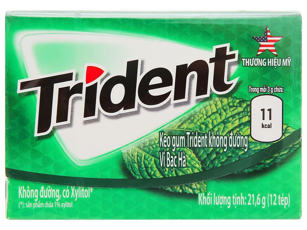Kẹo gum Trident Ice hương bạc hà hộp 21.6g 1