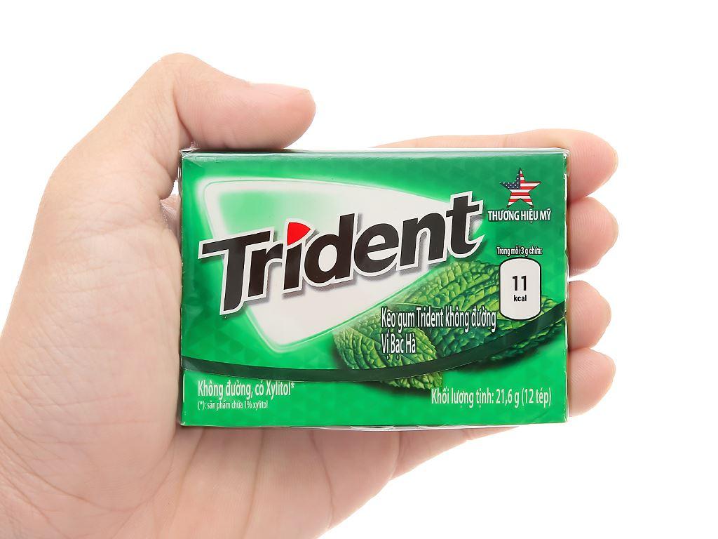 Kẹo gum Trident Ice hương bạc hà hộp 21.6g 3