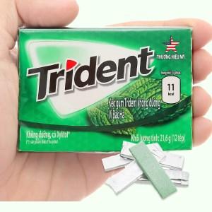 Kẹo gum Trident Ice hương bạc hà hộp 21.6g