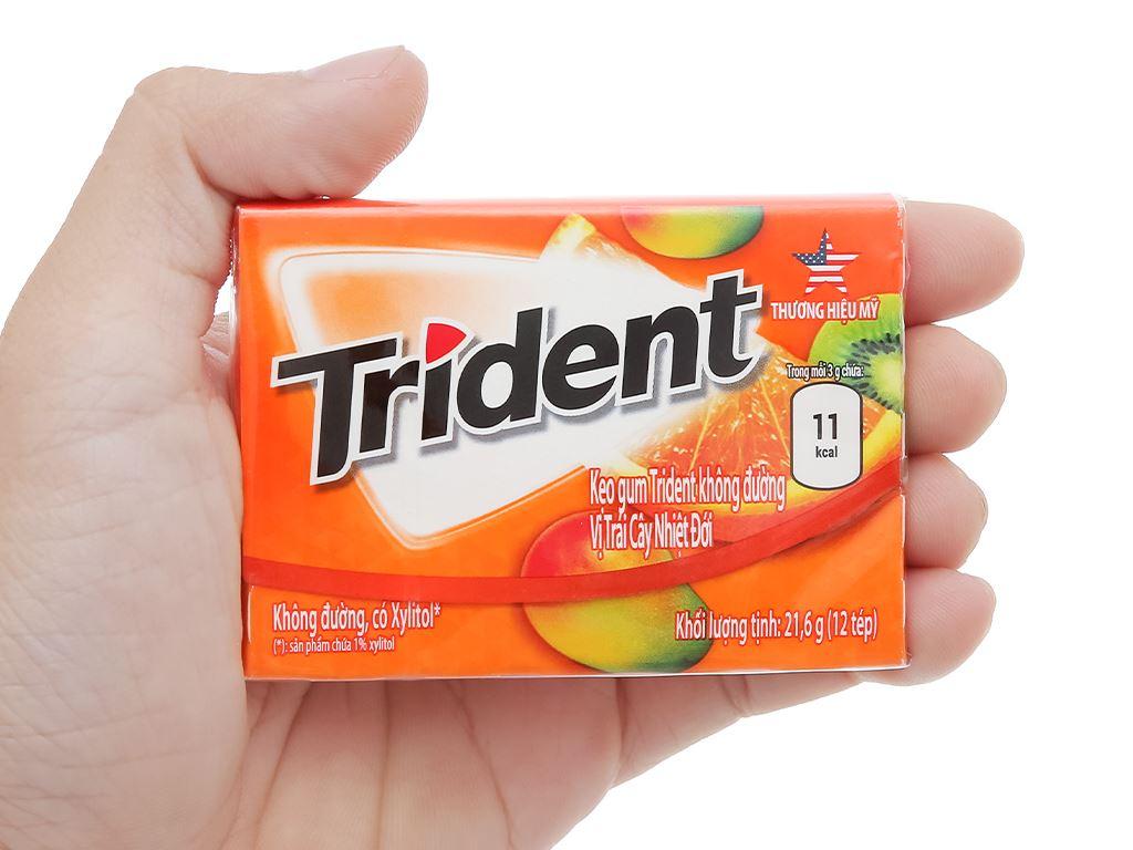 Kẹo gum Trident Ice vị trái cây nhiệt đới hộp 21.6g 4