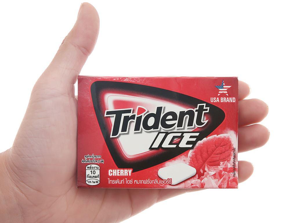 Kẹo gum Trident Ice vị cherry vỉ 11.2g 4