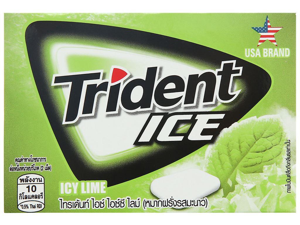Kẹo gum Trident Ice vị chanh vỉ 11.2g 1