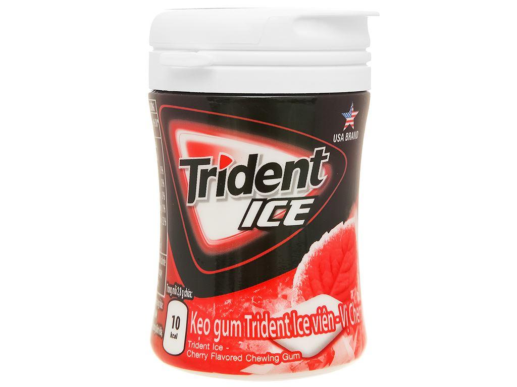 Kẹo gum Trident Ice vị cherry hũ 56g 1