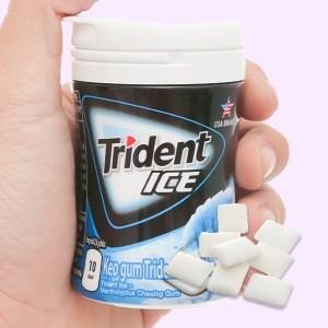 Kẹo gum Trident Ice hương bạc hà hũ 56g