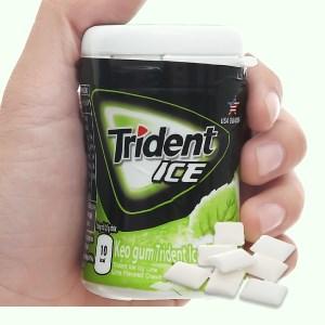 Kẹo gum Trident Ice vị chanh hũ 56g