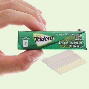 Kẹo gum Trident Ice hương bạc hà thanh 13.5g