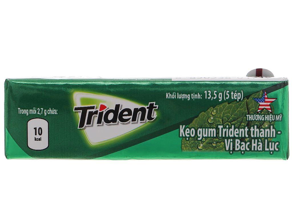 Kẹo gum Trident Ice hương bạc hà thanh 13.5g 1